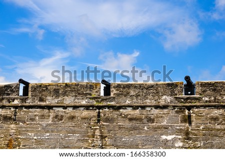 historical cannons at castillo de san marcos, st. augustine, florida