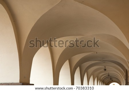 historical ceiling in colonade