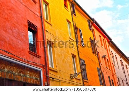 historical center of Ferrara Emilia Romagna Italy #1050507890