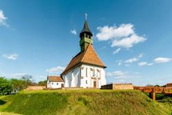 Historical Church in Ofoldeak village Hungary, alfold region. This is an splendid renowated church what built in 15th century. Hungarian name is Szuz Maria keresztenyek segitsege erodtemplom