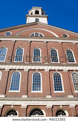 Historical Colonial  Architecture of a Building in Boston