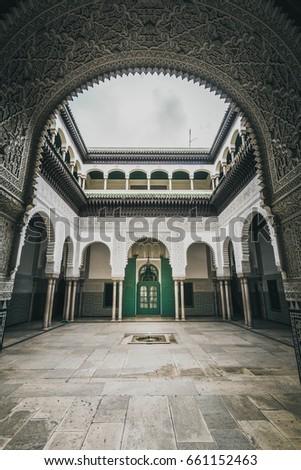 Historical court of Casablanca - Mahkama du Pacha - Morocco - 2017 Stok fotoğraf ©