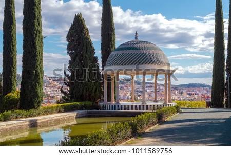 Shutterstock Historical Gazebo, Conception garden, jardin la concepcion in Malaga, Spain