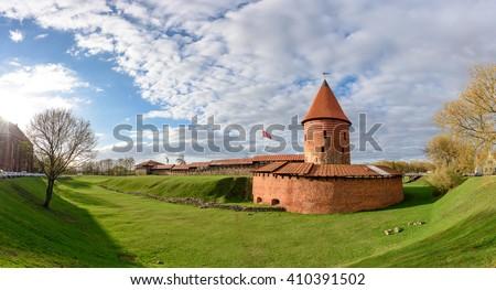 historical gothic kaunas castle ...