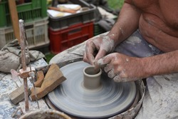 historical handmade pottery skillfull activity by master