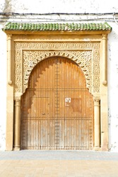 historical in  antique building door morocco style africa