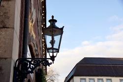 Historical lantern in Dusseldorf Oldtown