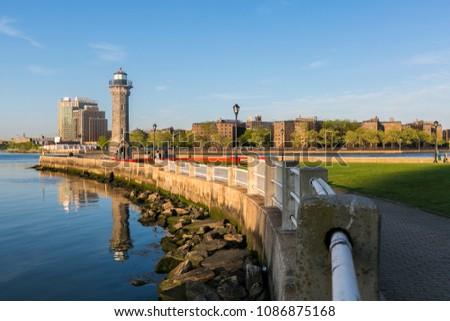 historical lighthouse on...