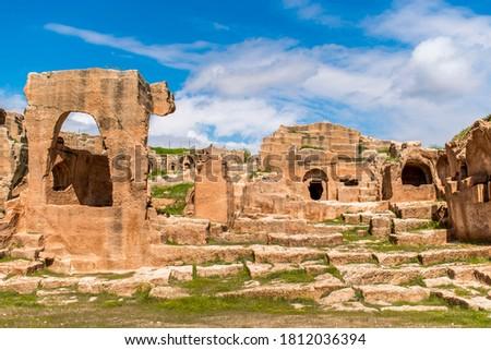 Historical Mardin and Ancient Dara Ruins Stock fotó ©