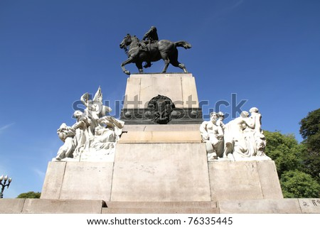 Historical Monument of Bartolome Mitre in Buenos Aires, Argentina, South america.