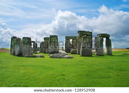 Historical monument Stonehenge not far from town of Amesbury, England Stock photo ©