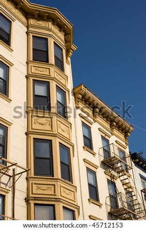 Historical multistory building in downtown Hoboken, New Jersey