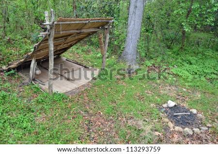 historical native american camp site #113293759