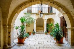 Historical palace. Bari. Puglia, Italy.