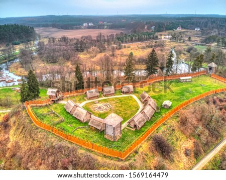 historical reconstruction fortress near Owidz , Poland