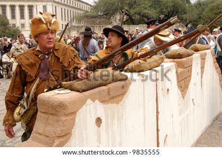 Historical reenactment of the Battle of the Alamo. [Feb. 23, 1836 to Mar. 6, 1836]
