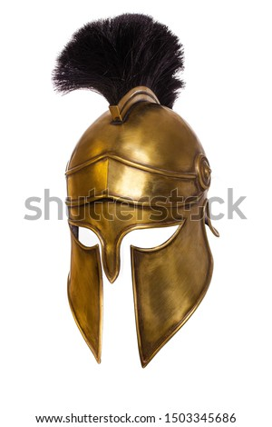 Historical Replica Spartan Warrior Helmet on a white background