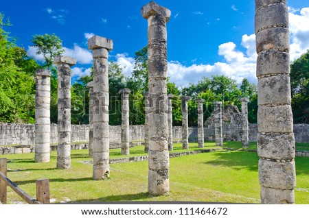 Historical ruins of ancient civilization of Maya. Tulum, Mexico.