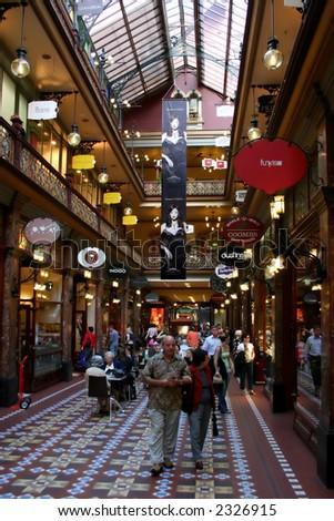 Historical shopping arcade, Australia