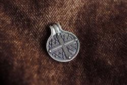 historical silver pendant cross filigree