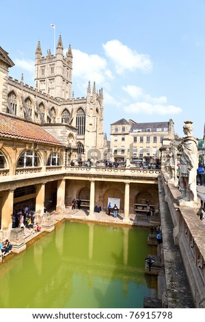 Historical site of antic Roman bath
