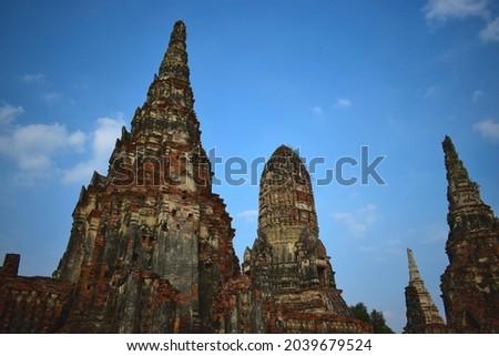Historical site of Ayutthaya, Wiat Chaiwatthanaram Zdjęcia stock ©