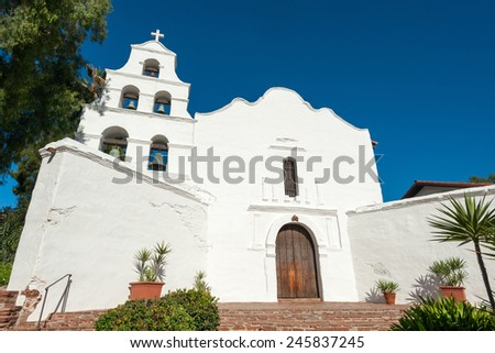Historical Spanish mission Basilica San Diego de Alcala, California, USA
