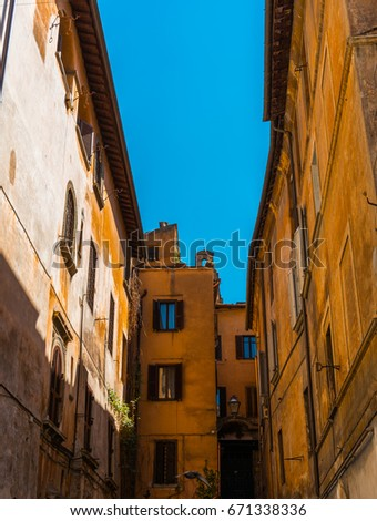 historical street at rome with...