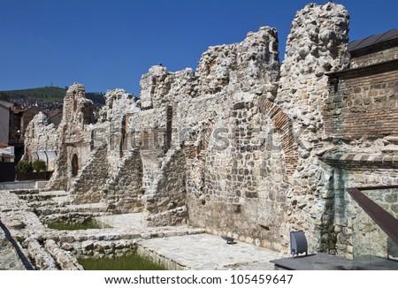 Historical Taslihan ruins, Sarajevo, Bosnia and Herzegovina
