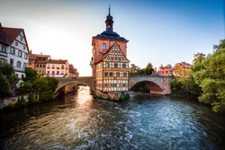 Historical town hall in Bamberg, Bavaria, Germany
