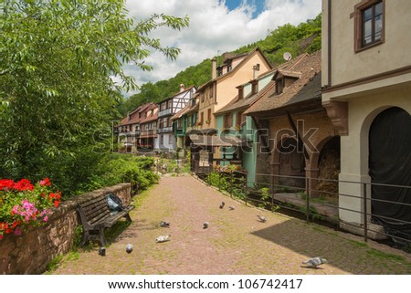 Historical town of Kaysersberg in the Alsace
