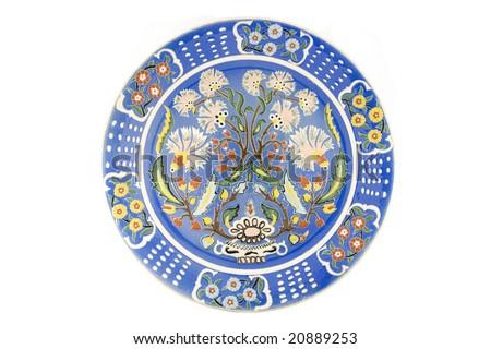 Historical Turkish Ottoman tile plate