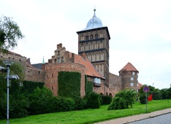 Historical Wall in the Old Town of the Hanse City Luebeck, Schleswig - Holstein