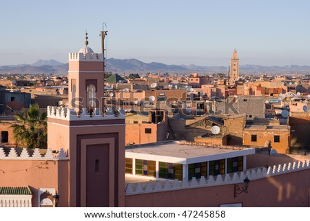 Historical walled city of Marrakech