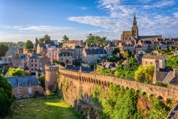 Historical walled Old town of Dinan, Brittany, France