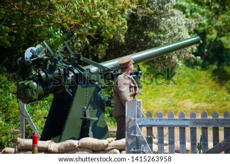 Historical weapons in Britain. The history of war. Machine gun. Cannon. #1415263958