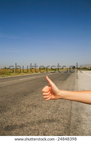 hitchhiking the road