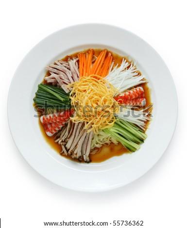 Hiyashi Chuka , Japanese Cold Noodles Salad Stock Photo 55736362 ...
