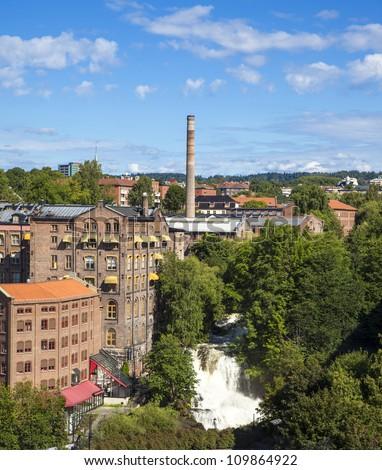 Hjula og Graa ved Akers Elva in Oslo, Norway