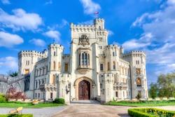 Hluboka nad Vltavou Castle in Czech Republic