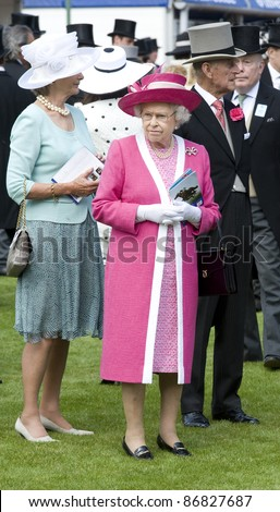HM Queen Elizabeth II and Prince Phillip attending The Epsom Derby Meeting at Epsom Downs Racecourse in Surrey. 4th June 2011.  05/06/2011  Picture by: Simon Burchell / Featureflash