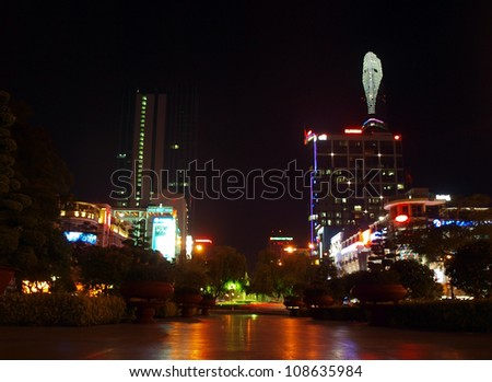 HO CHI MINH CITY - APRIL 11: The Bitexco Financial Tower is the tallest building in Vietnam, inaugurated in 30 october 2010. April 11, 2012 in Ho Chi Minh City.