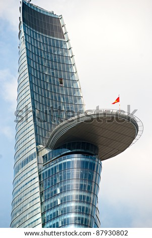 HO CHI MINH CITY - DECEMBER 18: The Bitexco Financial Tower is the tallest building in Vietnam, inaugurated in 30 october 2010. December 18, 2010 in Ho Chi Minh City.