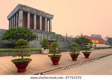 Ho Chi Minh Mausoleum in Hanoi, Vietnam.