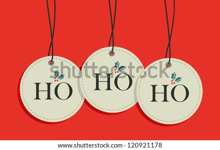 Ho, ho, ho xmas sale hang tags set.