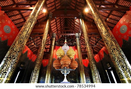 Ho Kham Luang is northern tradition Thai style at Commemoration Ratchaphruek Chiang Mai province Thailand
