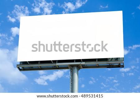 Hoarding Mock Up template blue sky Stock foto ©