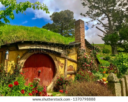 Hobbiton movie set #1370798888