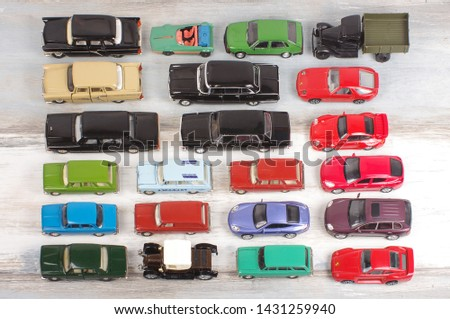 Hobby collection of obsolete die-cast automobile models #1431259940