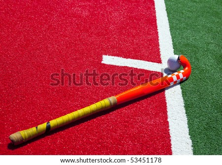 hockey stick on the field